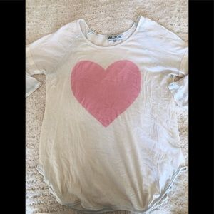 wildfox pink heart tunic